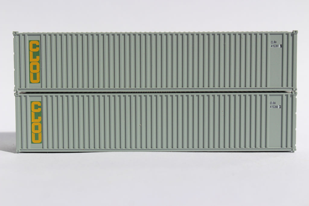CLOU 40' Std. Height 2-P-44-P-2 'Square Corrugated' side containers JTC # 405551