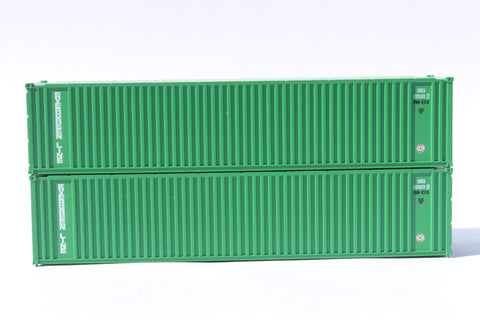 EVERGREEN (early) 40' Std. Height 2-P-44-P-2 'Square Corrugated' side containers JTC # 405554