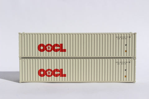 OOCL (Large logo) 40' Std. height containers with Magnetic system, Corrugated-side. JTC-405304