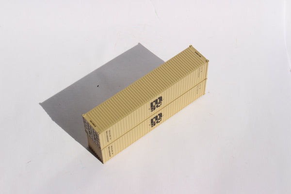 MSC MEDU (beige)– 40' Std. height containers with Magnetic system, Corrugated-side. JTC # 405336