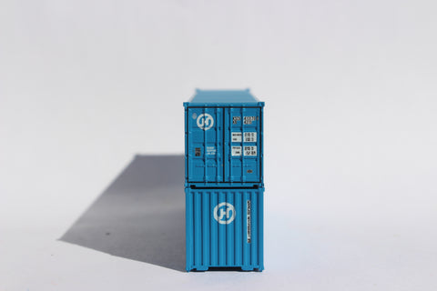 "HANJIN 40' Std. (8'6"") corrugated Panel side containers JTC # 405520"