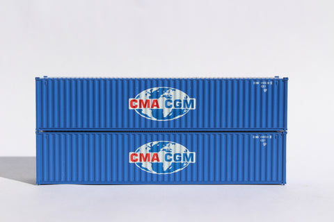 "CMA CGM (Globe logo) JTC # 405305 40' Standard height (8'6"") corrugated side steel containers"