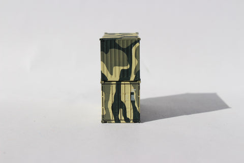 US ARMY CAMO 'A', MILITARY SERIES 20' Std. height containers with Magnetic system, JTC-205387