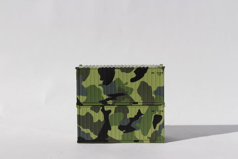 APMU CAMO 'A', MILITARY SERIES 20' Std. height containers with Magnetic system. JTC-205389