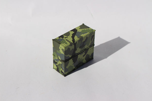 APMU CAMO 'A', MILITARY SERIES 20' Std. height containers with Magnetic system. JTC-205389  SOLD OUT