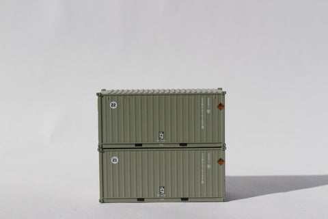 USMU 'A', MILITARY SERIES 20' Std. height containers with Magnetic system. JTC-205449