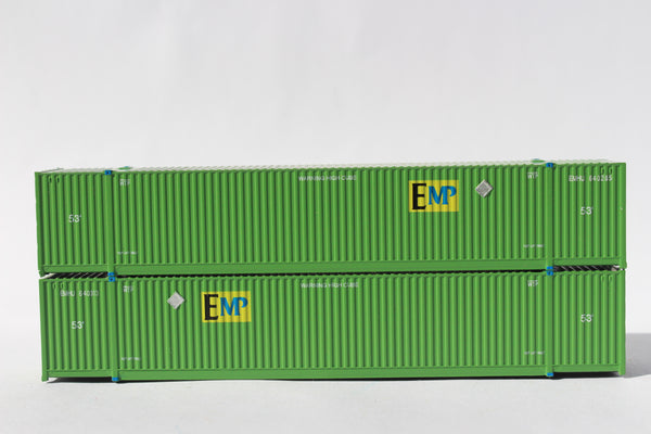 EMP - UP  53' HIGH CUBE 8-55-8 corrugated containers with stackable Magnetic system. JTC # 537003