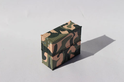 EMSU CAMO containers 'A', Military Style, 20' Std. height containers with Magnetic system, JTC-205398