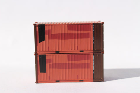 USAU Brown patch A, MILITARY SERIES 20' Std. height containers with Magnetic system, JTC-205458