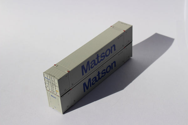 Matson 53' HIGH CUBE 8-55-8 corrugated containers. JTC # 537011