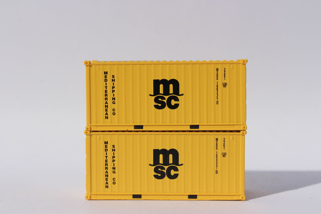 MSC 20' (Eco Container) Std. height container , Corrugated-side. JTC-205380