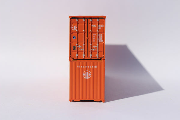 Uniglory (orange) 40' HIGH CUBE containers, Corrugated-side. JTC# 405159