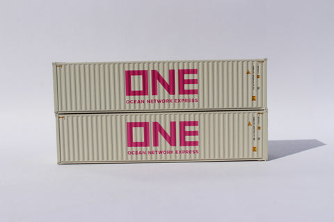 ONE (gray) 40' HIGH CUBE containers, Corrugated-side. JTC # 405166