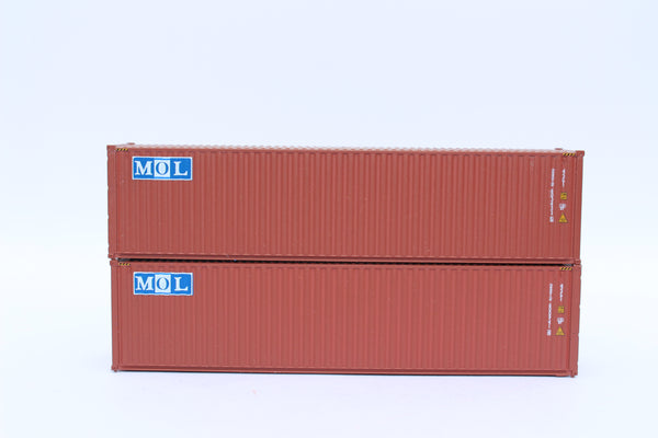 MOL – brown w/ MOL initials Logo– 40' HIGH CUBE containers with Magnetic system, Corrugated-side. JTC # 405086