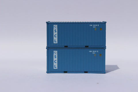 Safmarine and CMBT Lines faded (SCMU) 20' Std. height containers with Magnetic system, Corrugated-side. JTC-205326