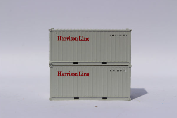 Harrison Line 20' Std. height containers with Magnetic system, Corrugated-side. JTC-205434