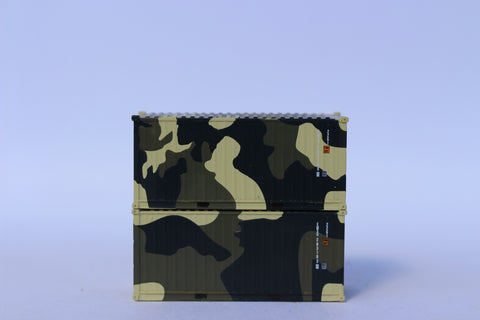 EMSU CAMO b scheme, MILITARY SERIES, 20' Std. height containers with Magnetic system, JTC-205399