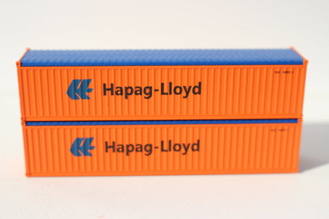 Hapag Lloyd orange 40' Canvas/Open top container - Corrugated-side. 1:160 N scale
