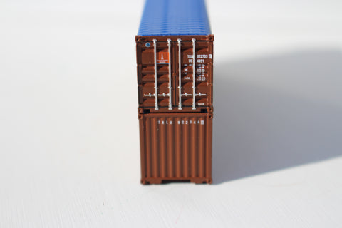 TRANSAMERICA Pyramid (brown) 40' Canvas/Open top Magnetic container- corrugated-side. 1:160 N scale