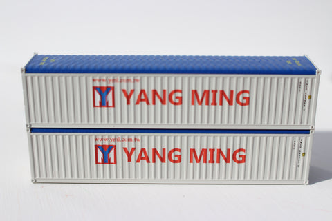 YANG MING (gray) 40' Canvas/Open top Magnetic container, Corrugated-side. JTC# 402005