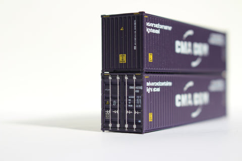 CMA CGM 40' HIGH CUBE containers with Magnetic system, Corrugated-side. JTC# 405002
