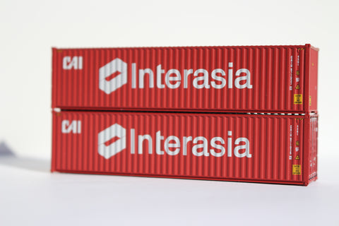 CAI Interasia 40' HIGH CUBE containers with Magnetic system, Corrugated-side. JTC# 405007