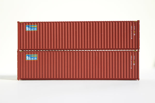 BEACON LEASING 40' HIGH CUBE containers with Magnetic system, Corrugated-side. JTC# 405013