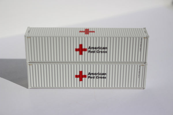 Special Run American Red Cross 40' HC containers - Item # FMS 12/13