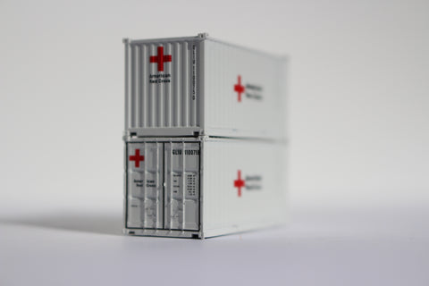Special Run American Red Cross 20' std. containers - Item # FMS 10 / 11