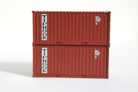 TIPHOOK 20' Std. height containers with Magnetic system, Corrugated-side. JTC# 205302