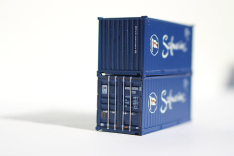 SAFMARINE 20' Std. height containers with Magnetic system, Corrugated-side. JTC# 205304