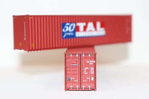 TAL '50 Years' 40' HIGH CUBE containers with Magnetic system, Corrugated-side. JTC # 405001