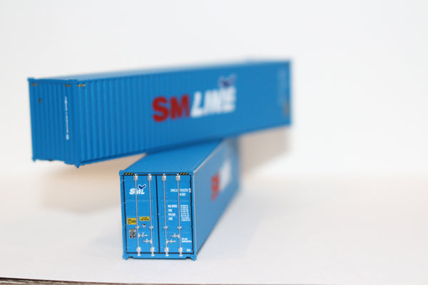 SM LINE 40' HIGH CUBE containers with Magnetic system, Corrugated-side. JTC # 405019