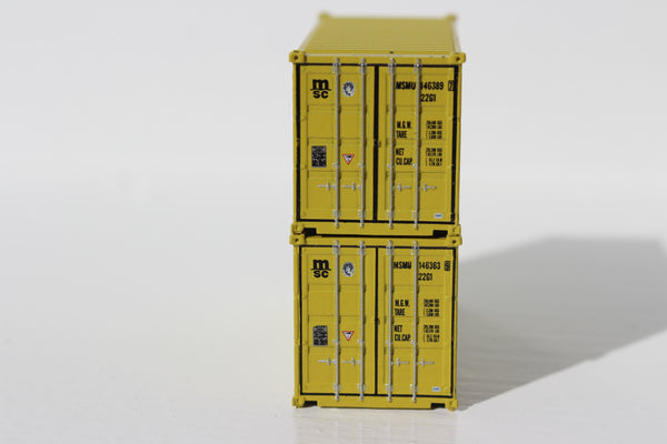 MSC  20' Std. height containers with Magnetic system, Corrugated-side. JTC-205307 SOLD OUT