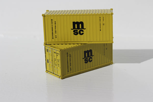 MSC  20' Std. height containers with Magnetic system, Corrugated-side. JTC-205307