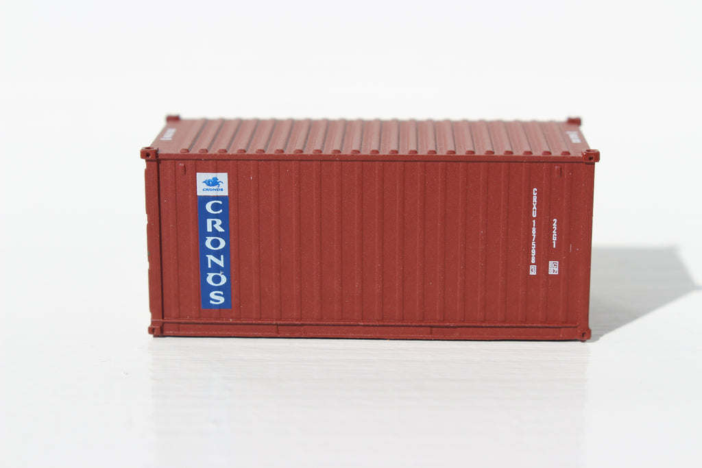 CRONOS (brown) 20' Std. height containers with Magnetic system, Corrugated-side. JTC-205332