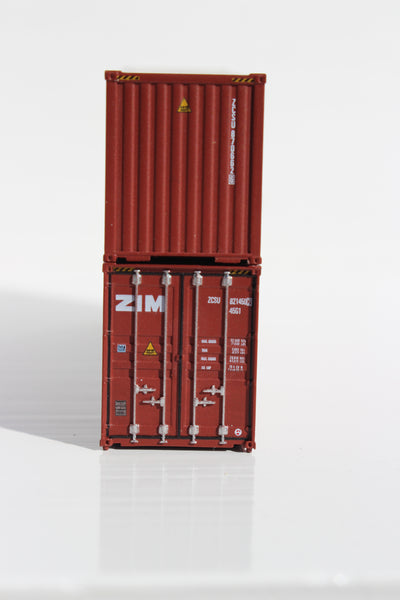 ZIM 40' HIGH CUBE containers with Magnetic system, Corrugated-side. JTC # 405041