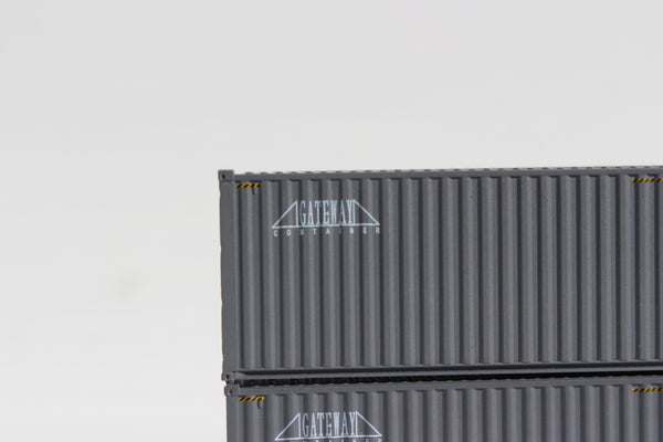 GATEWAY 40' HIGH CUBE containers with Magnetic system, Corrugated-side. JTC # 405021