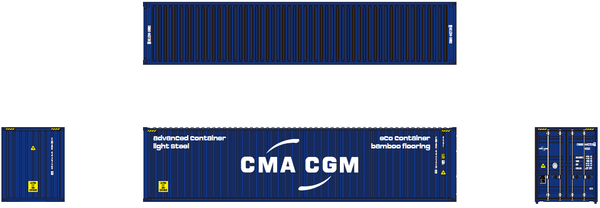 CMA CGM 40' HIGH CUBE containers with Magnetic system, Corrugated-side. JTC# 405002 SOLD OUT