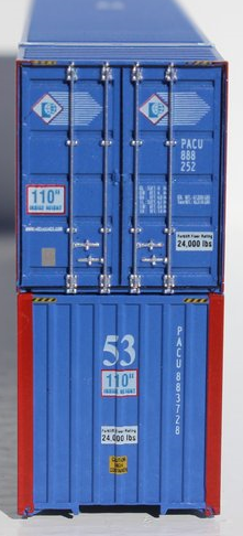 PACER 53' HIGH CUBE 6-42-6 corrugated containers with Magnetic system, Corrugated-side. JTC # 535011