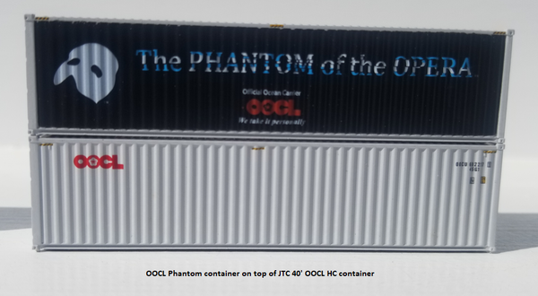OOCL 'PHANTOM' 40' HIGH CUBE containers with Magnetic system, Corrugated-side. JTC # 405023