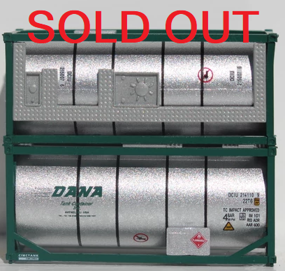 DANA 20' Standard Tank Container (Full Length 3/4 walkway & Placard / Tool-box)  205244 SOLD OUT