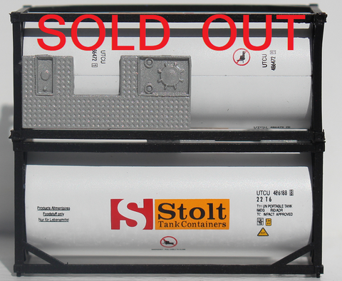 STOLT 20' Standard Tank Container (1/2 length 3/4 walkway) 205207 SOLD OUT