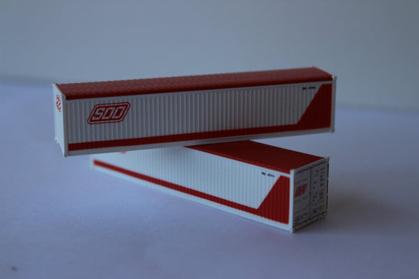 SOO LINE 40' Canvas/Open top container, 'Rib-style' corrugated sides. JTC# SOOLIN
