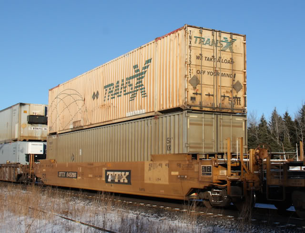 TRANS X 53' HIGH CUBE 6-42-6 corrugated containers with Magnetic system, Corrugated-side. JTC # 535063
