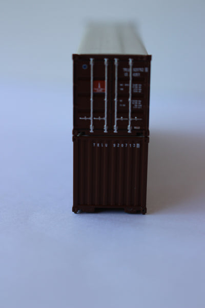 TRANSAMERICA 40' Canvas/Open top container, 'Rib-style' corrugated sides. 1:160 N scale