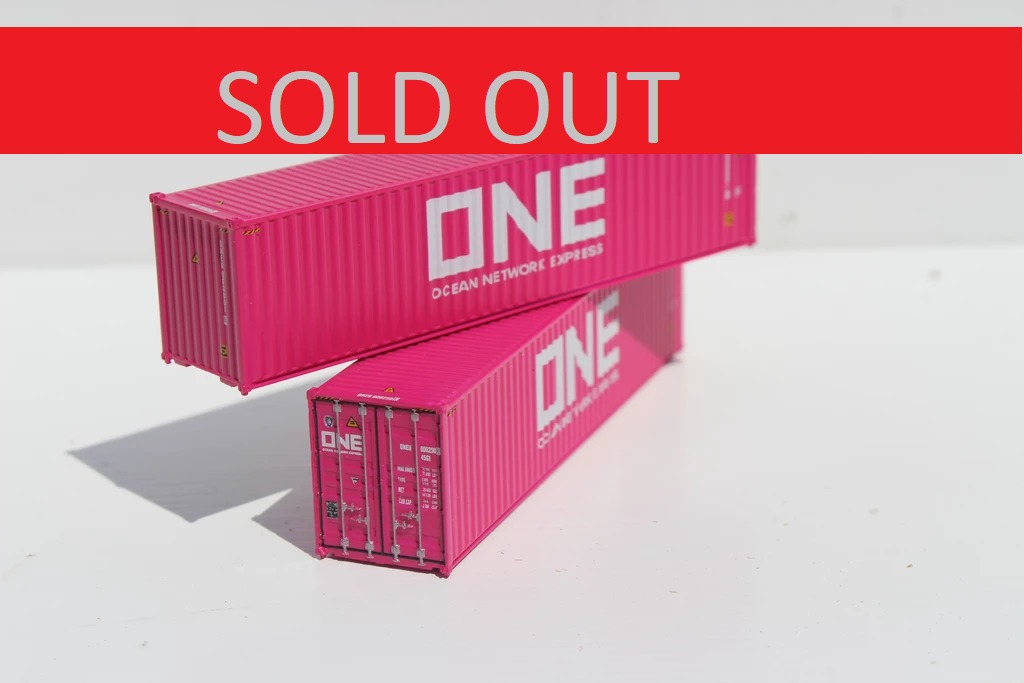 ONE Cherry Blossom Magenta painted 40' HIGH CUBE containers with Magnetic system, Corrugated-side. JTC # 405045 SOLD OUT