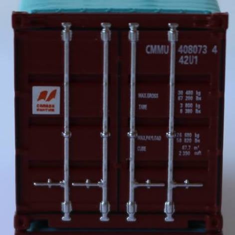 CANADA MARITIME 40' Canvas/Open top container, 'Rib-style' corrugated sides. JTC# 402403