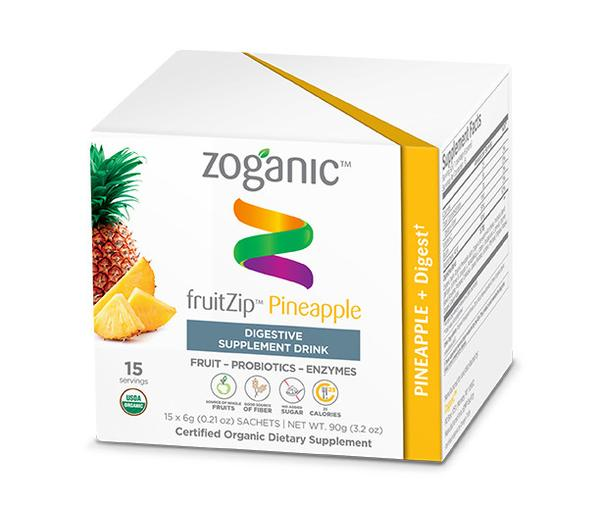 Zoganic Pineapple Digestion Fruitzip