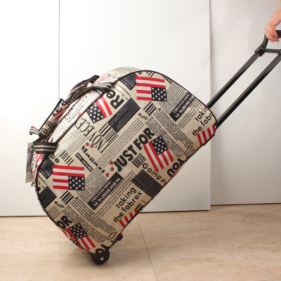 Luggage Metal Trolley Travel Bags Suitcase on wheels valise bagages roulettes Hand Trolley Unisex Bag Sac Board Chassis Package